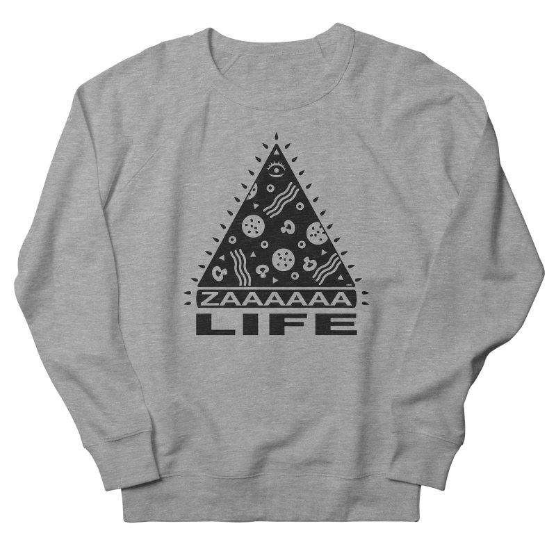 Zaaaaaa Life Black Women's French Terry Sweatshirt by Chris Crammer