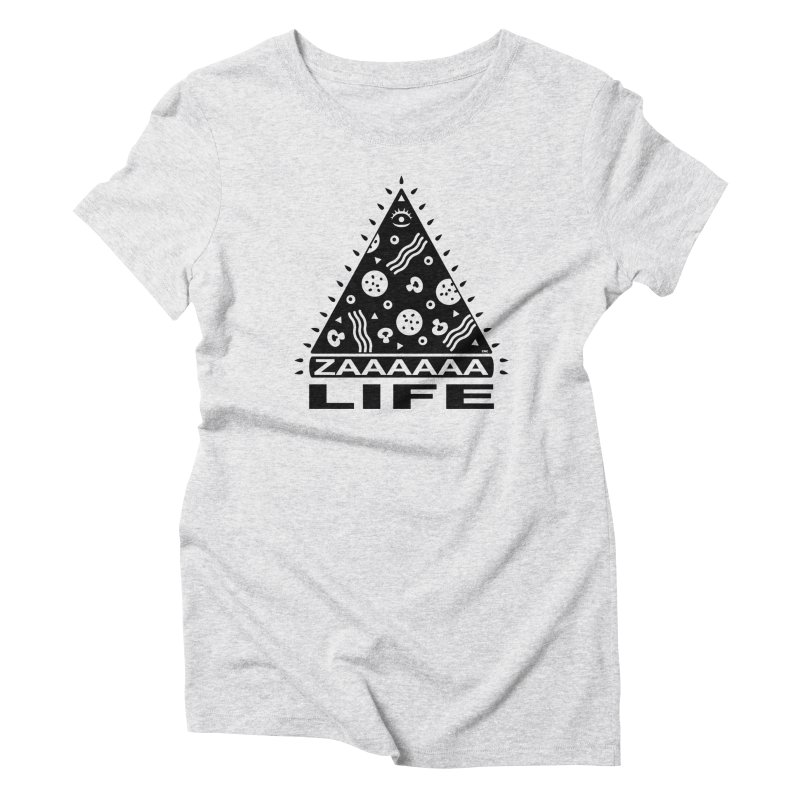 Zaaaaaa Life Black Women's T-Shirt by Chris Crammer