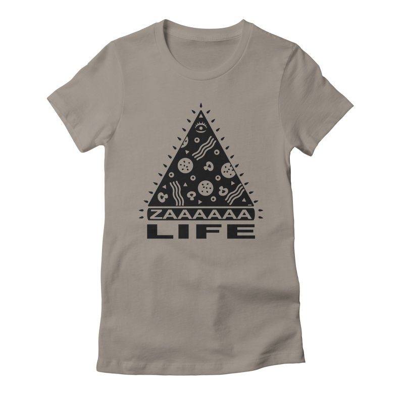 Zaaaaaa Life Black Women's Fitted T-Shirt by chriscrammer's Artist Shop