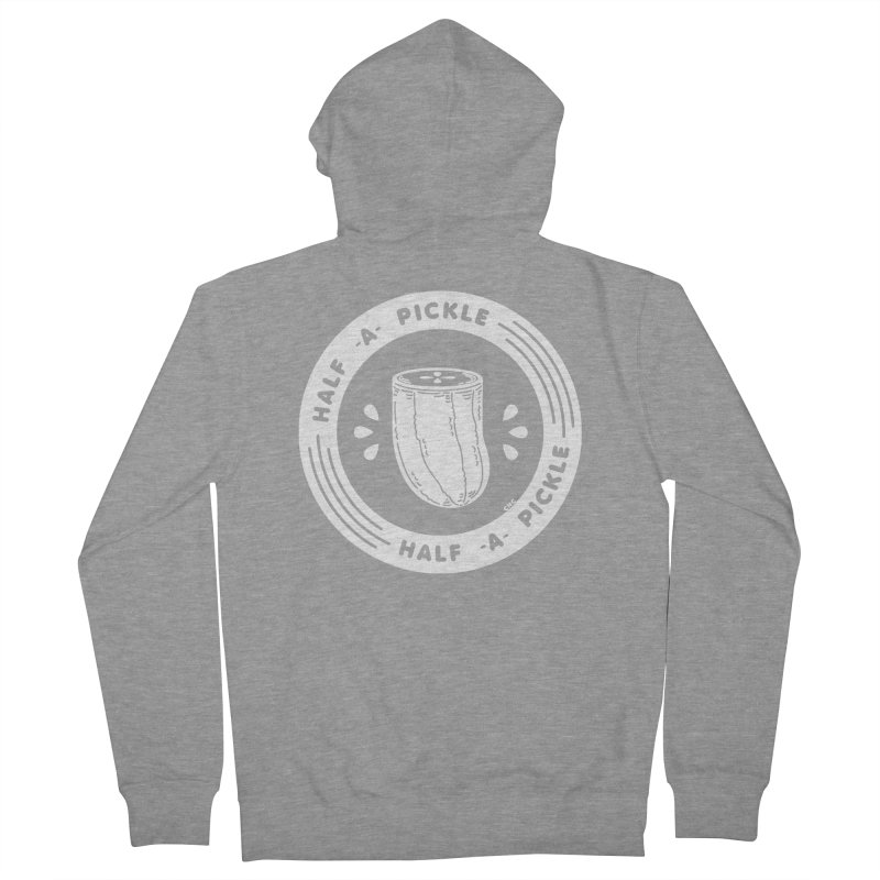 Half A Pickle Men's French Terry Zip-Up Hoody by Chris Crammer