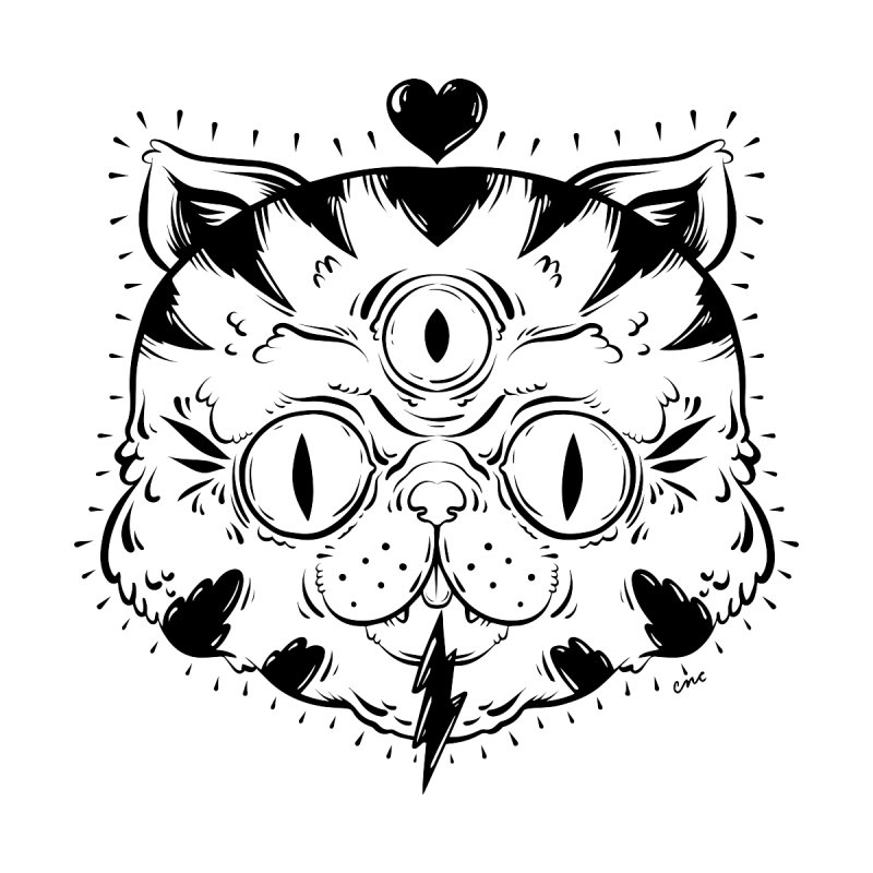3 Eye Cat Love Women's Sweatshirt by chriscrammer's Artist Shop
