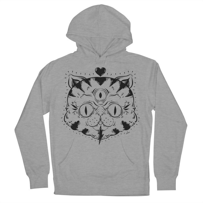 3 Eye Cat Love Women's Pullover Hoody by Chris Crammer
