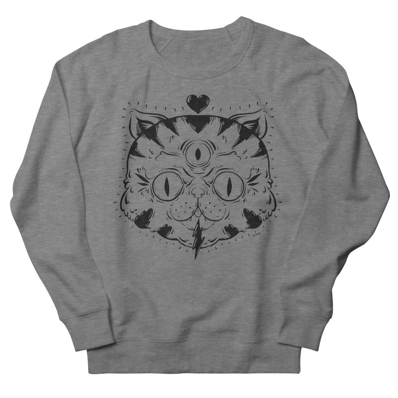 3 Eye Cat Love Women's Sweatshirt by Chris Crammer