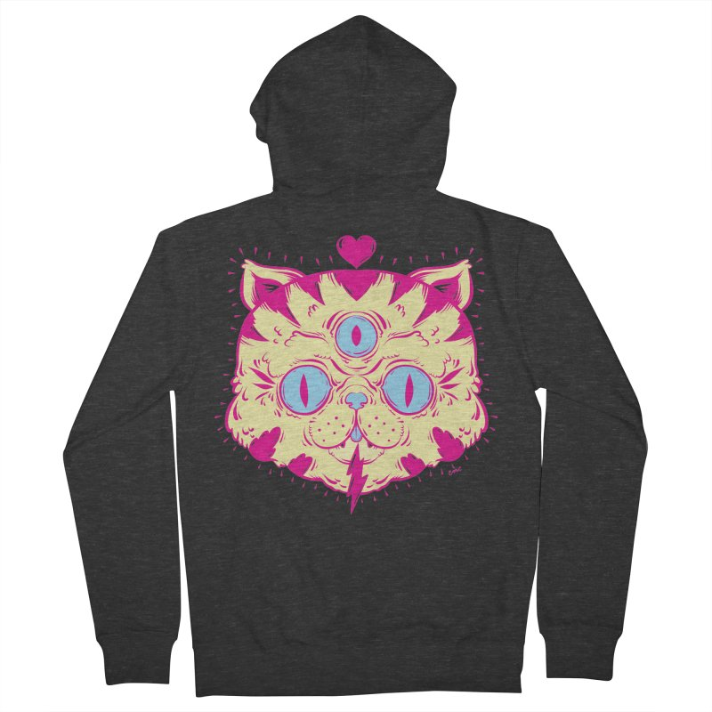 # Eye Cat Love Women's Zip-Up Hoody by Chris Crammer