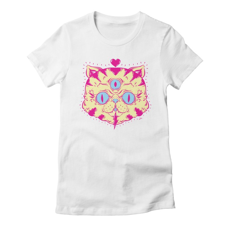 # Eye Cat Love Women's Fitted T-Shirt by Chris Crammer