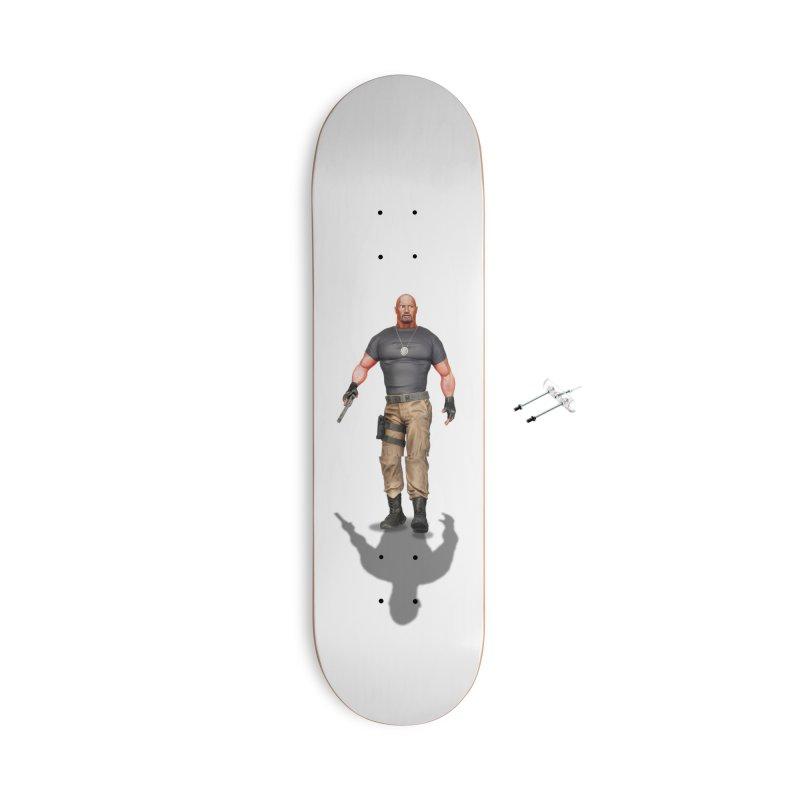 Agent Luke Hobbs V2 Accessories Skateboard by ChrisCustoms