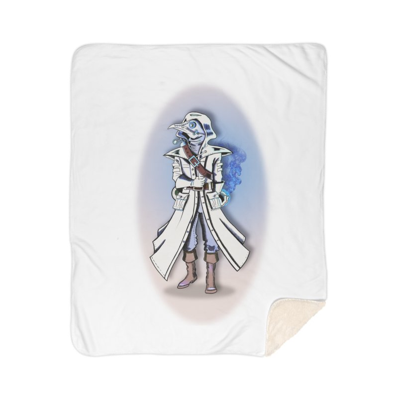 Plague Doctor: Blue Gradient Home Blanket by ChrisCustoms