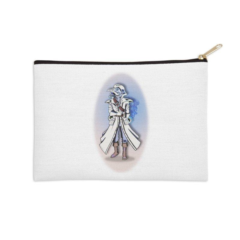 Plague Doctor: Blue Gradient Accessories Zip Pouch by ChrisCustoms