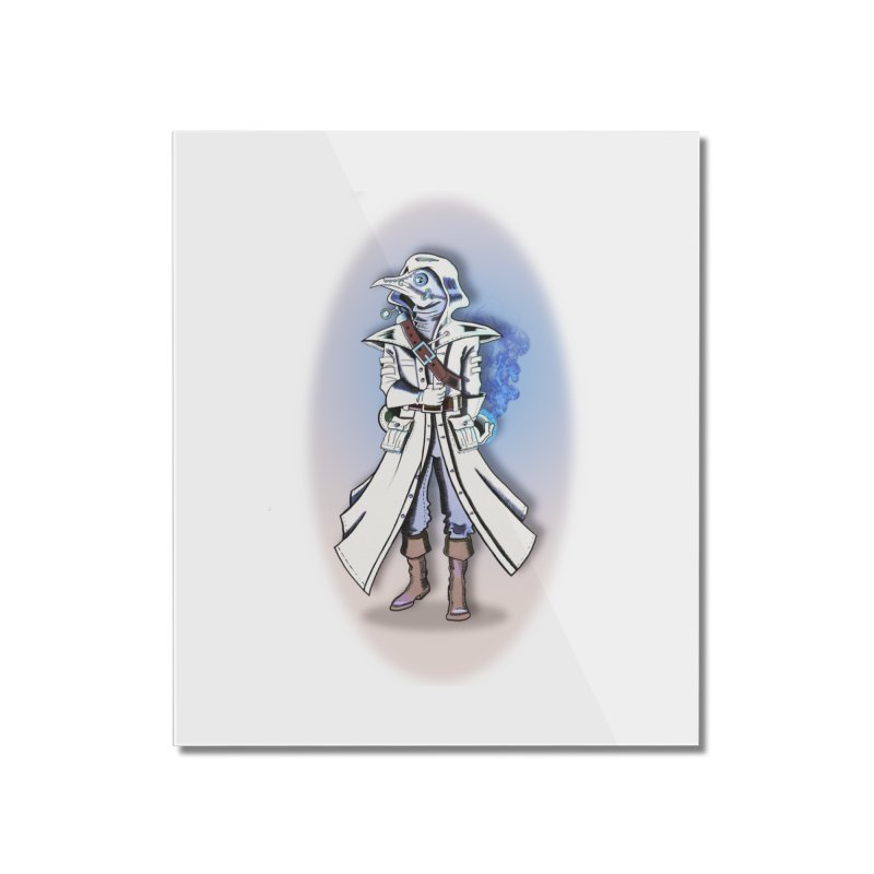 Plague Doctor: Blue Gradient Home Mounted Acrylic Print by ChrisCustoms