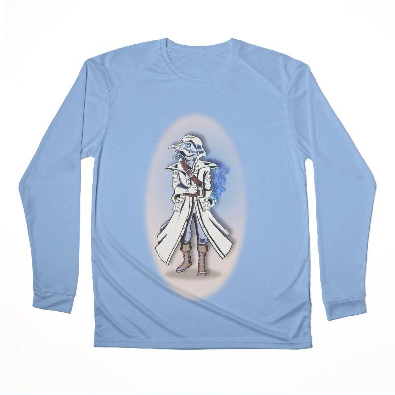 Plague Doctor: Blue Gradient Men's Longsleeve T-Shirt by ChrisCustoms
