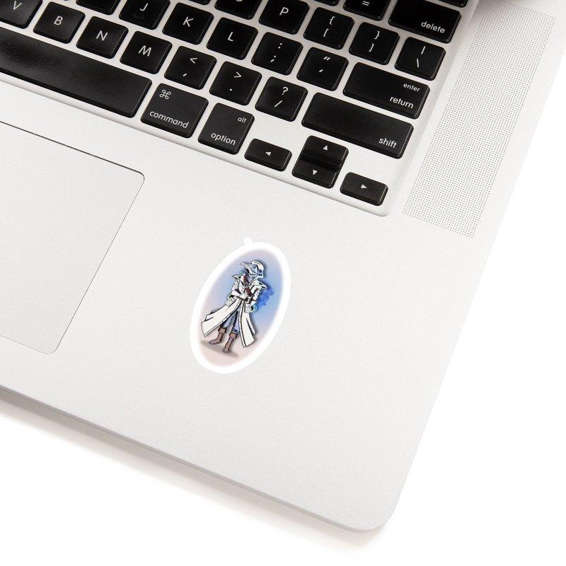 Plague Doctor: Blue Gradient Accessories Sticker by ChrisCustoms