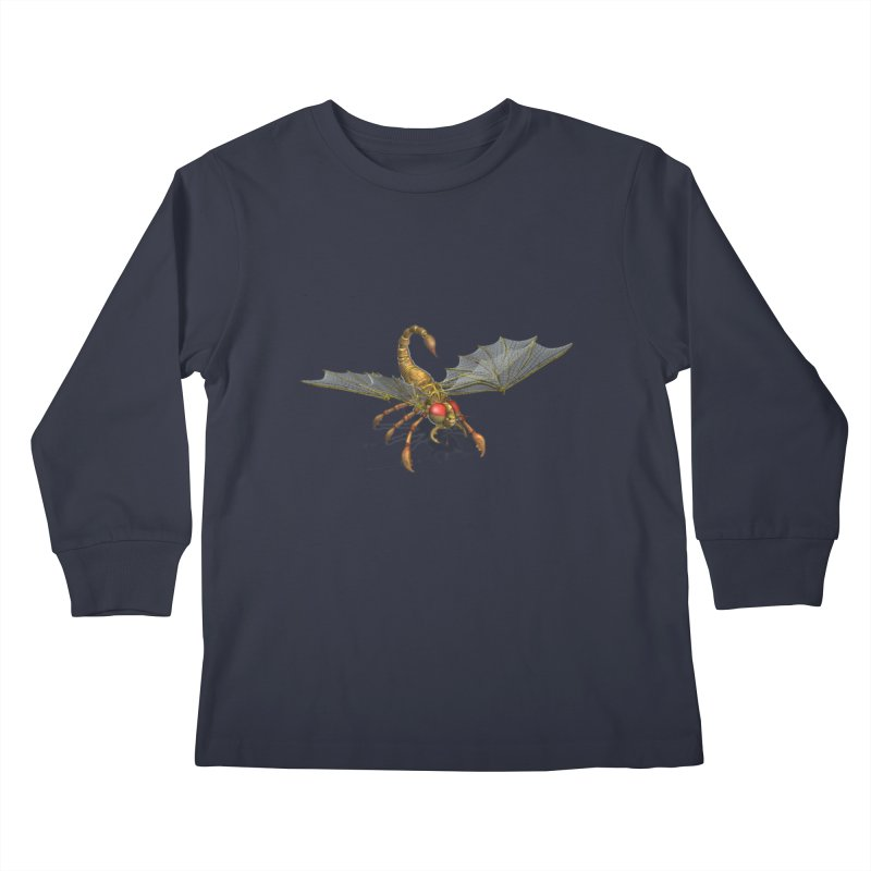 ScorpFly Kids Longsleeve T-Shirt by ChrisCustoms