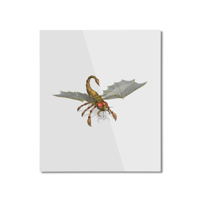 ScorpFly Home Mounted Aluminum Print by ChrisCustoms