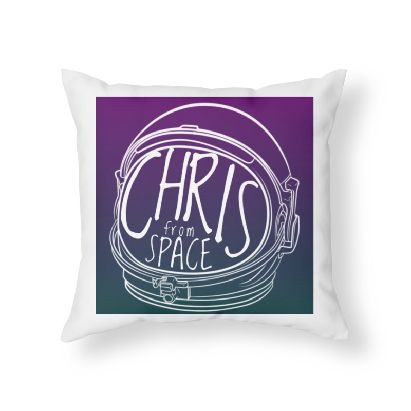 Helmet logo Home Throw Pillow by Chris From Space Shop
