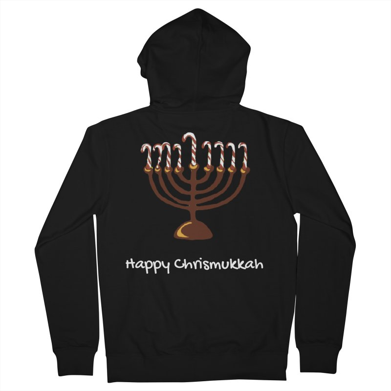 Happy Chrismukkah  Women's French Terry Zip-Up Hoody by chrismukkah's Artist Shop
