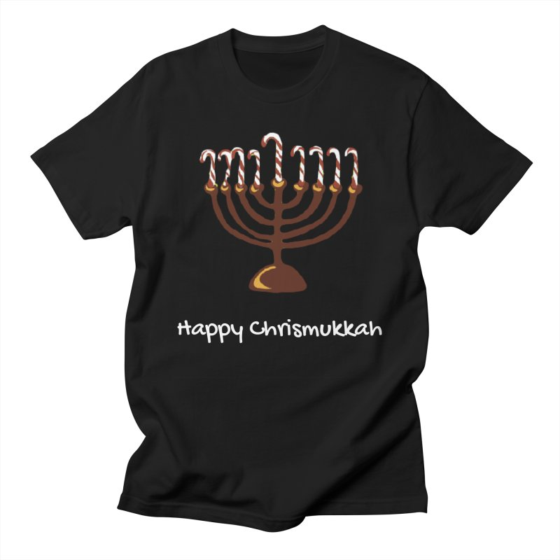 Happy Chrismukkah  in Men's Regular T-Shirt Black by chrismukkah's Artist Shop