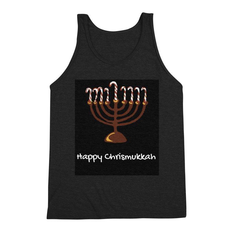 Happy Chrismukkah  Men's Triblend Tank by chrismukkah's Artist Shop