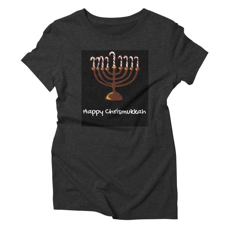Happy Chrismukkah  Women's Triblend T-Shirt by chrismukkah's Artist Shop