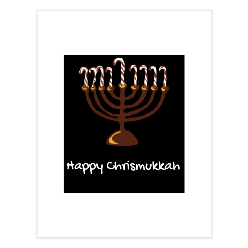 Happy Chrismukkah  Home Fine Art Print by chrismukkah's Artist Shop