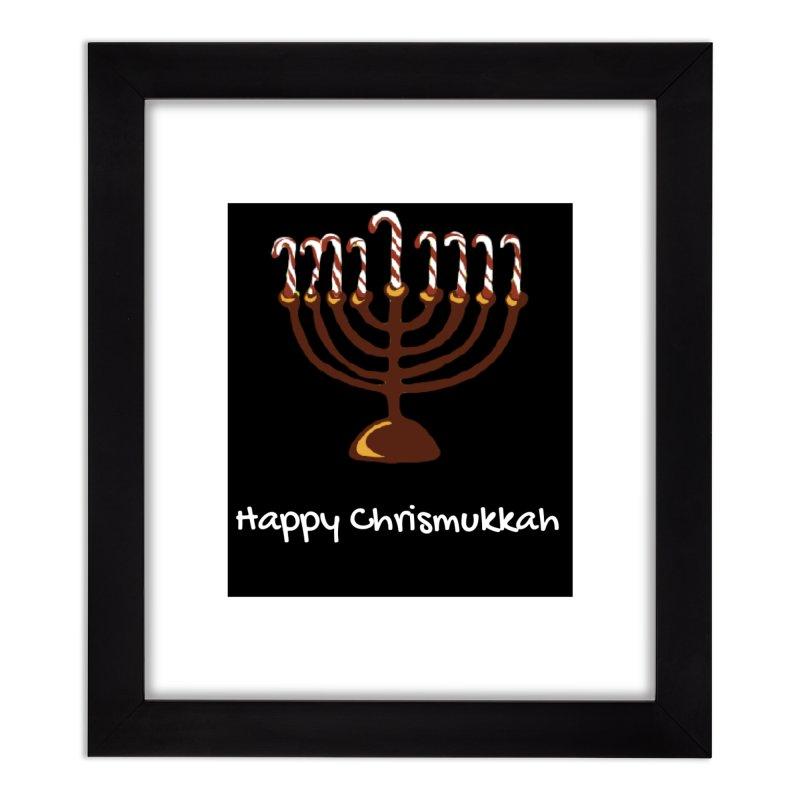 Happy Chrismukkah  Home Framed Fine Art Print by chrismukkah's Artist Shop