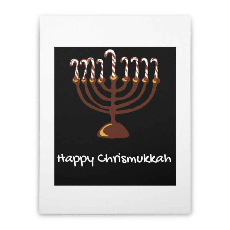 Happy Chrismukkah  Home Stretched Canvas by chrismukkah's Artist Shop