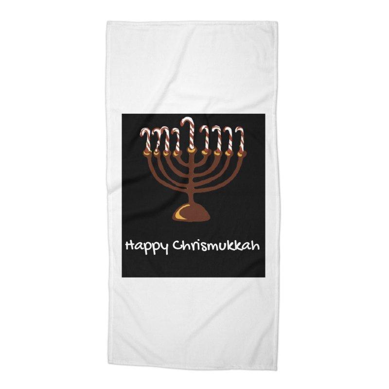 Happy Chrismukkah  Accessories Beach Towel by chrismukkah's Artist Shop