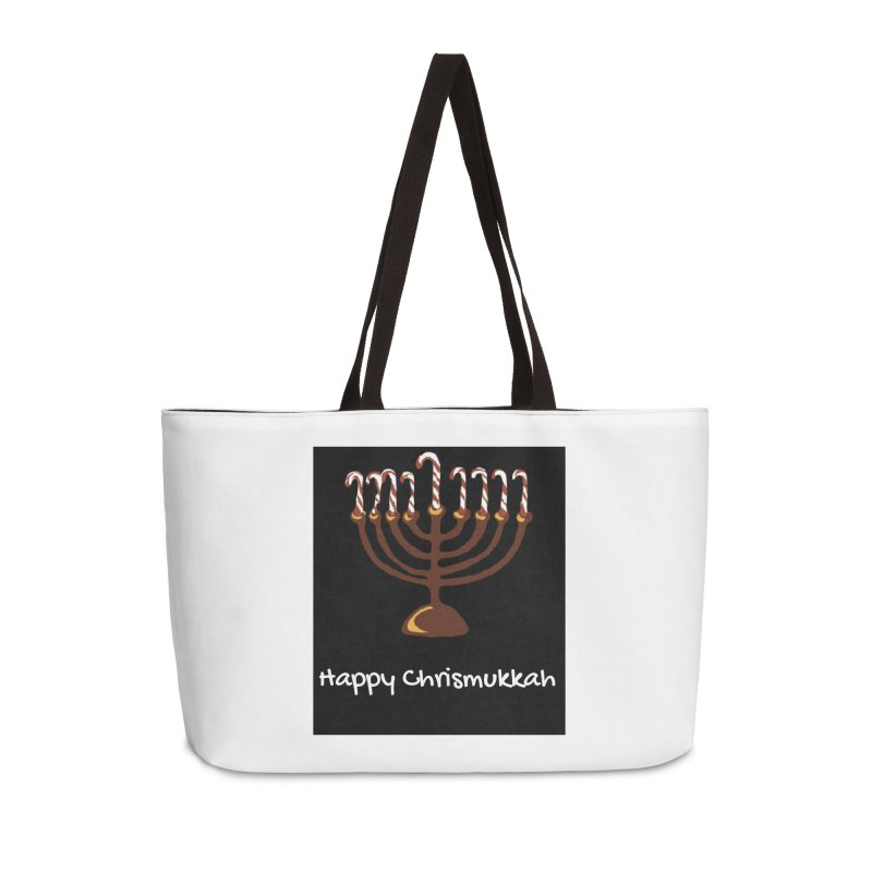Happy Chrismukkah  Accessories Weekender Bag Bag by chrismukkah's Artist Shop