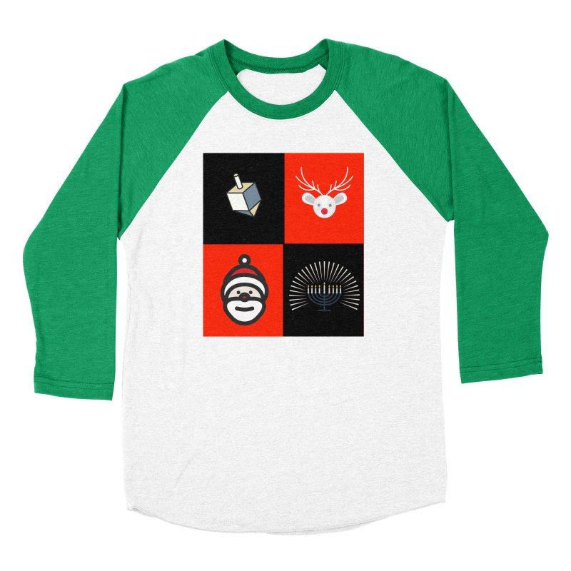 Happy Chrismukkah santa dreidel Men's Longsleeve T-Shirt by chrismukkah's Artist Shop