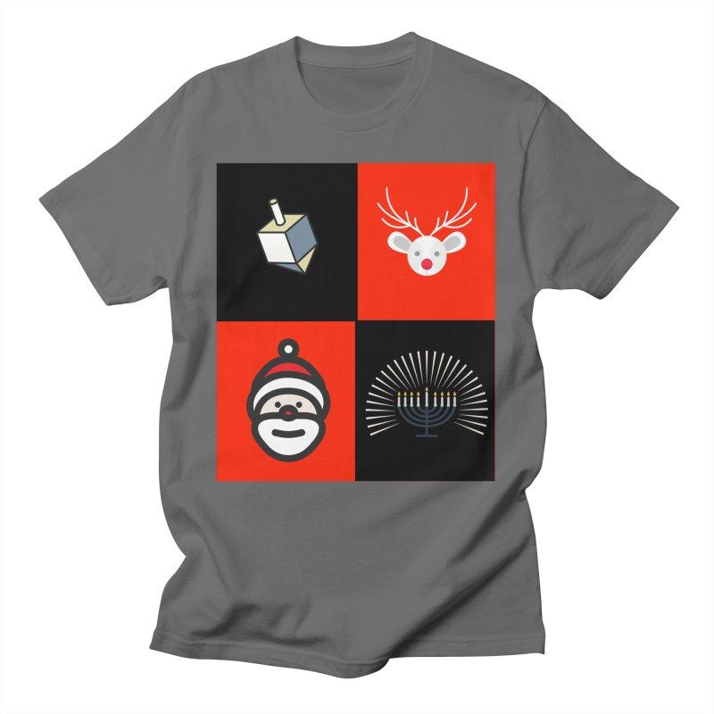 Happy Chrismukkah santa dreidel Women's T-Shirt by chrismukkah's Artist Shop
