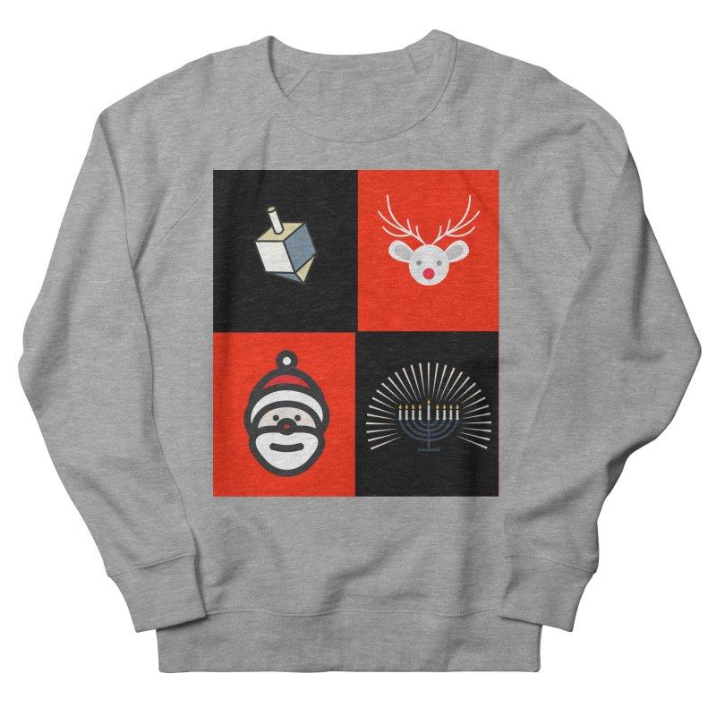 Happy Chrismukkah santa dreidel Women's Sweatshirt by chrismukkah's Artist Shop