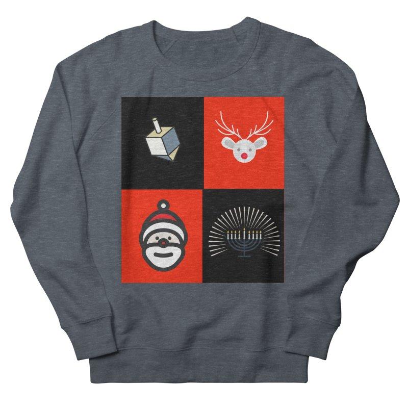 Happy Chrismukkah santa dreidel Men's Sweatshirt by chrismukkah's Artist Shop