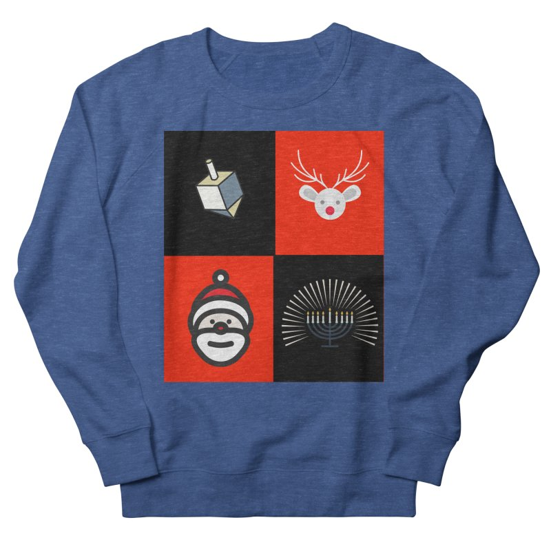 Happy Chrismukkah santa dreidel Men's French Terry Sweatshirt by chrismukkah's Artist Shop