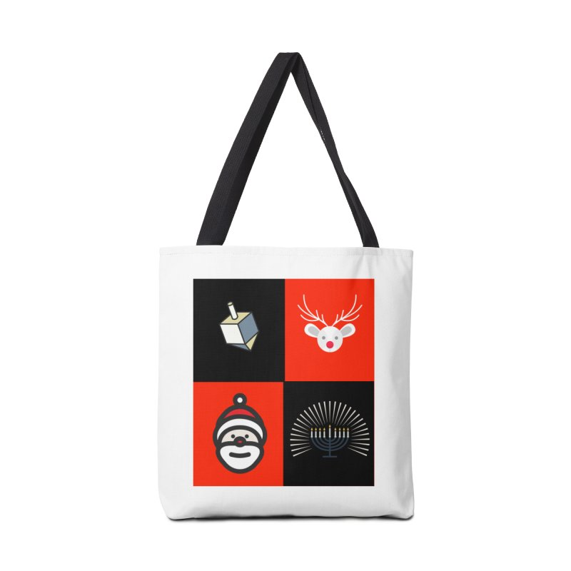 Happy Chrismukkah santa dreidel Accessories Tote Bag Bag by chrismukkah's Artist Shop