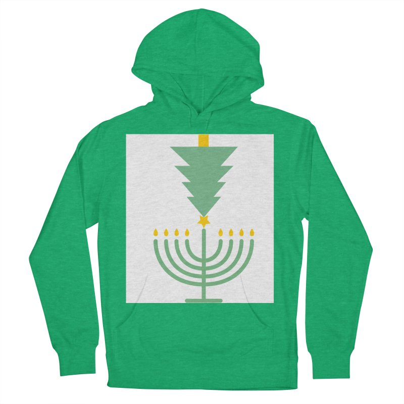 Happy Chrismukkah Men's French Terry Pullover Hoody by chrismukkah's Artist Shop