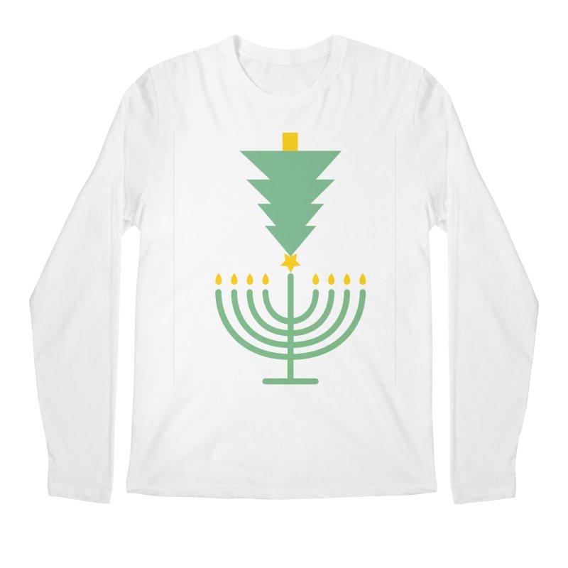 Happy Chrismukkah Men's Regular Longsleeve T-Shirt by chrismukkah's Artist Shop