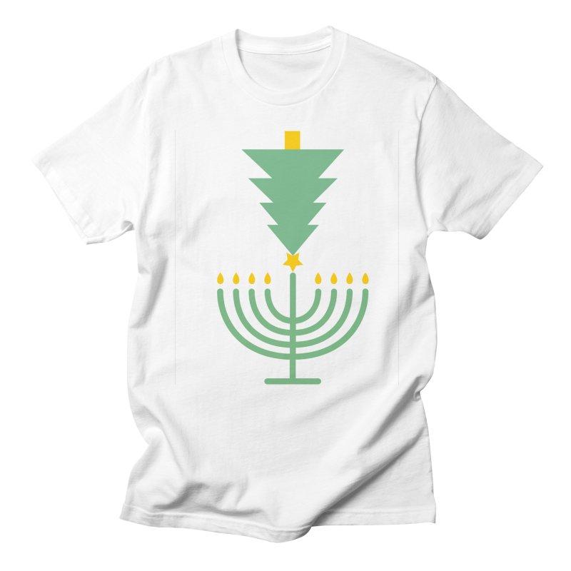 Happy Chrismukkah Women's Regular Unisex T-Shirt by chrismukkah's Artist Shop