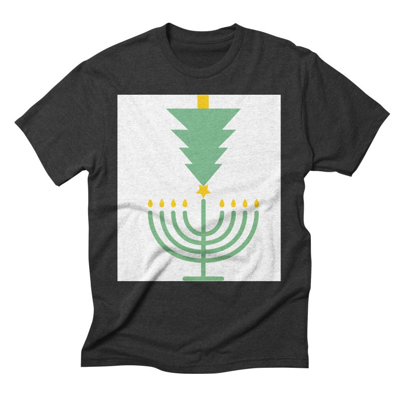 Happy Chrismukkah Men's Triblend T-Shirt by chrismukkah's Artist Shop
