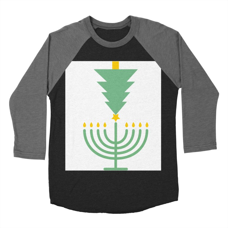 Happy Chrismukkah Women's Baseball Triblend T-Shirt by chrismukkah's Artist Shop