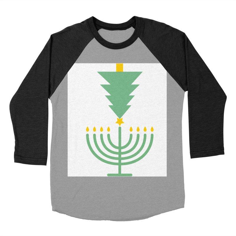 Happy Chrismukkah Men's Baseball Triblend Longsleeve T-Shirt by chrismukkah's Artist Shop