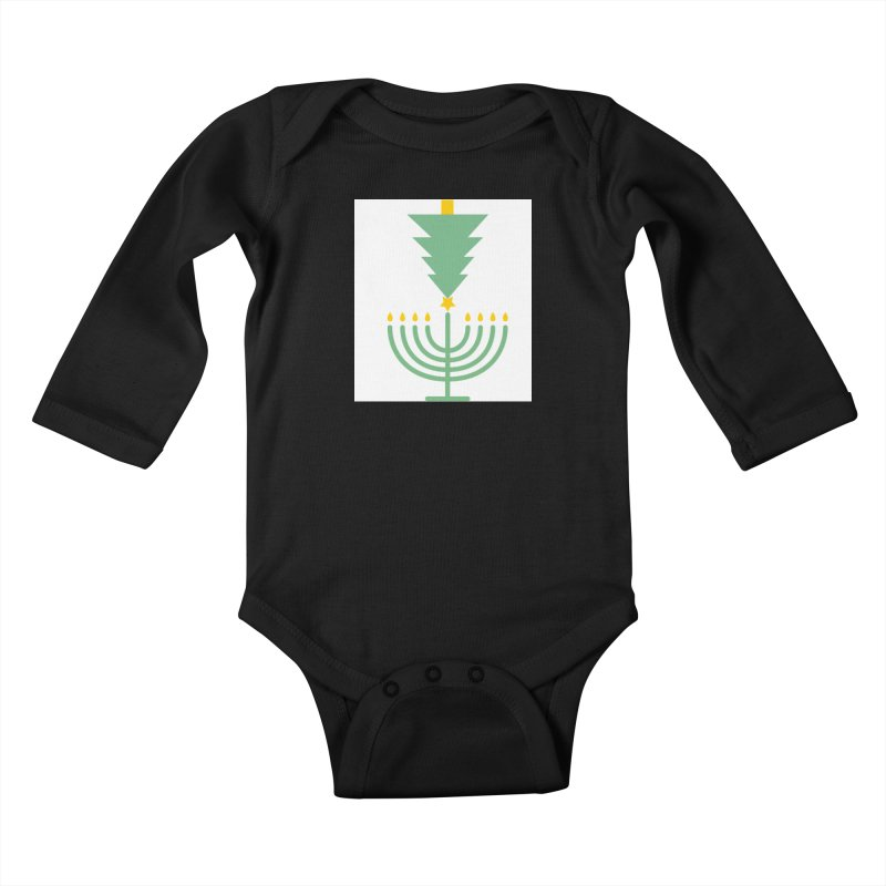 Happy Chrismukkah Kids Baby Longsleeve Bodysuit by chrismukkah's Artist Shop