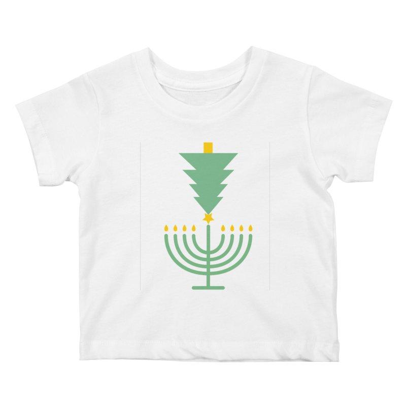 Happy Chrismukkah Kids Baby T-Shirt by chrismukkah's Artist Shop