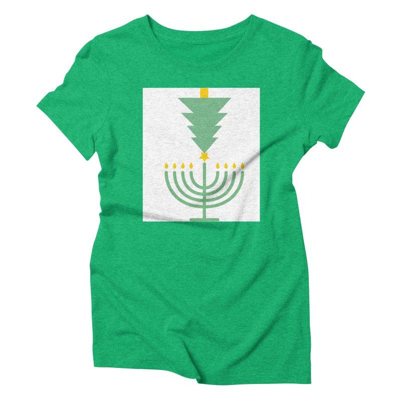 Happy Chrismukkah Women's T-Shirt by chrismukkah's Artist Shop