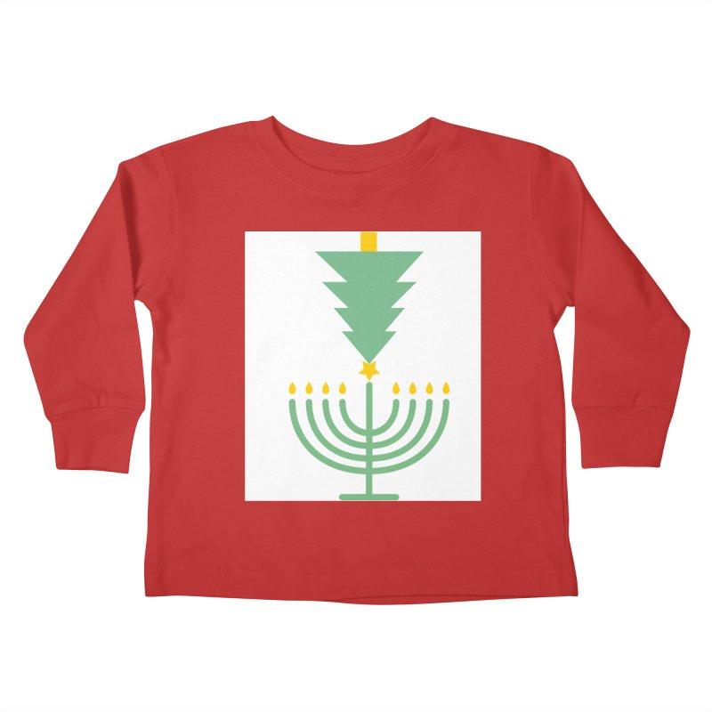 Happy Chrismukkah Kids Toddler Longsleeve T-Shirt by chrismukkah's Artist Shop