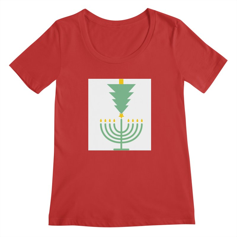 Happy Chrismukkah Women's Scoopneck by chrismukkah's Artist Shop