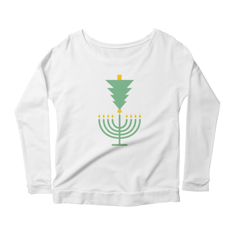 Happy Chrismukkah Women's Scoop Neck Longsleeve T-Shirt by chrismukkah's Artist Shop