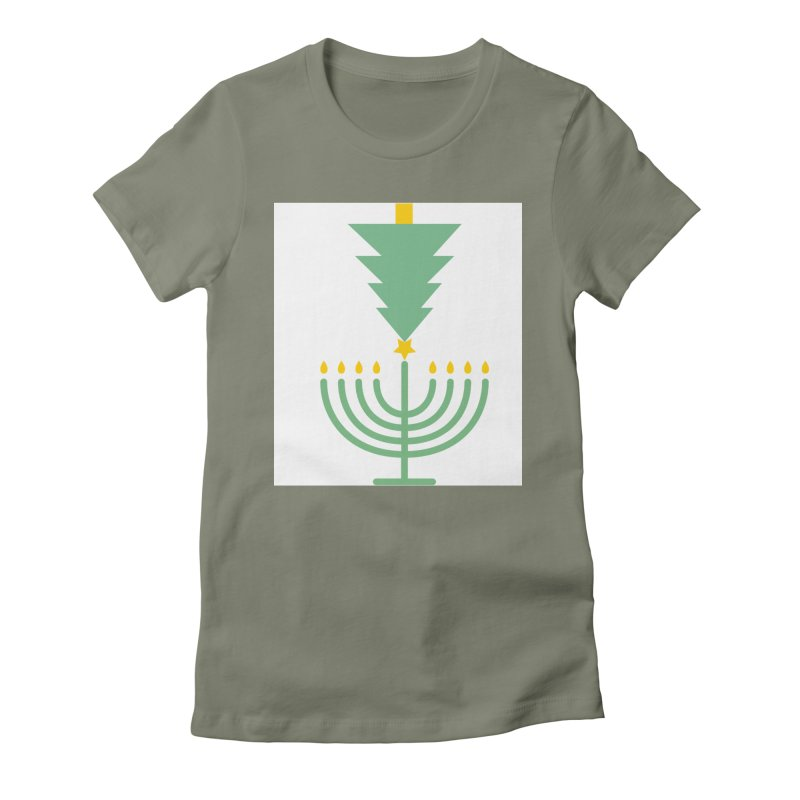 Happy Chrismukkah Women's Fitted T-Shirt by chrismukkah's Artist Shop