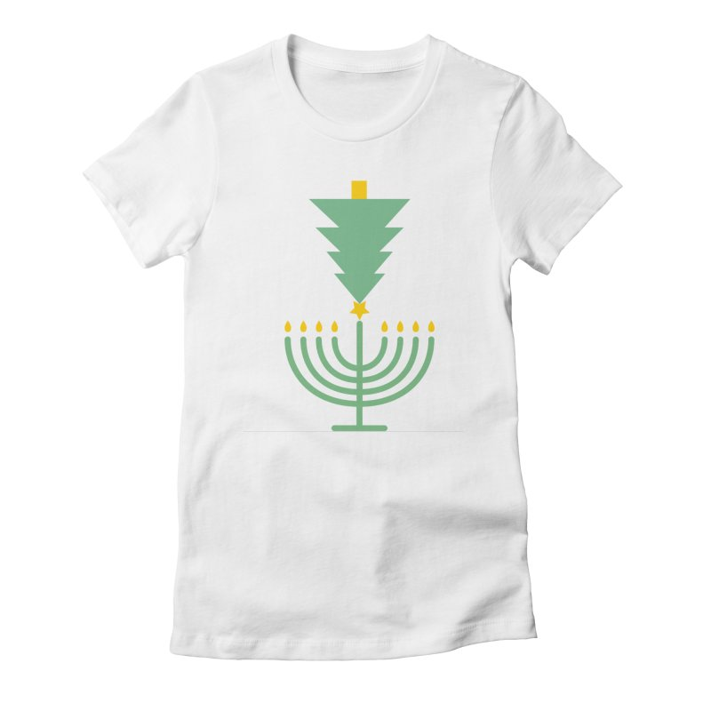 Happy Chrismukkah Women's Fitted T-Shirt by chrismukkah's Artist Shop