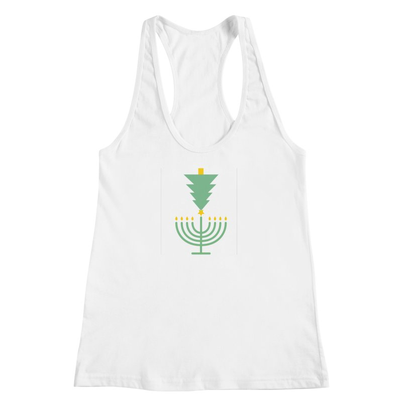Happy Chrismukkah Women's Racerback Tank by chrismukkah's Artist Shop