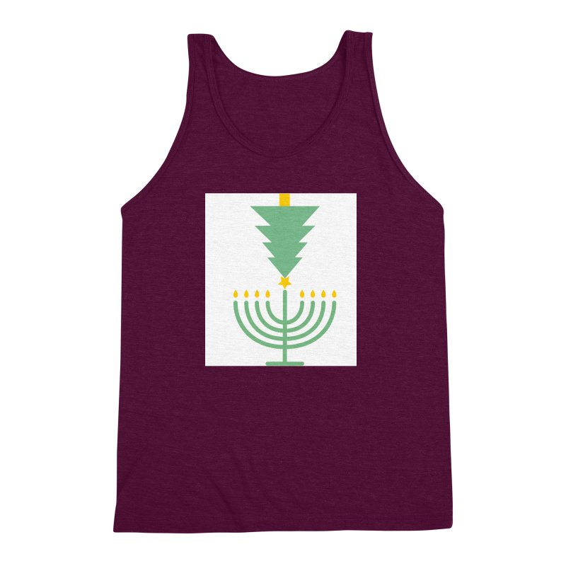 Happy Chrismukkah Men's Triblend Tank by chrismukkah's Artist Shop