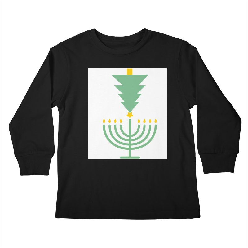 Happy Chrismukkah Kids Longsleeve T-Shirt by chrismukkah's Artist Shop